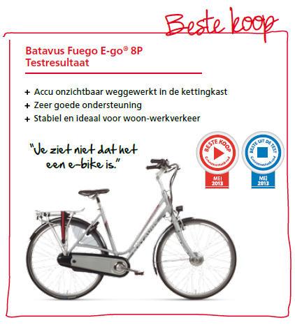 testresultaten elektrische fietsen batavus. Black Bedroom Furniture Sets. Home Design Ideas