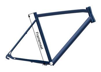 Framemaat van huidige fiets meten